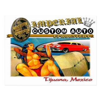 imperial custom auto upholstery postcard