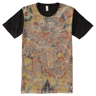 Imperial Ming Asian Chinese Dragon Art All-Over Print T-Shirt