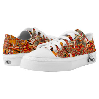 Imperial Ming Chinese Dragon Graphic Low Shoes