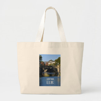 Imperial palace in Tokyo, Japan Large Tote Bag
