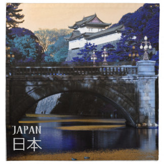 Imperial palace in Tokyo, Japan Napkin