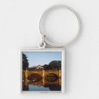 Imperial Palace, Nijubashi Bridge, Tokyo, Japan Silver-Colored Square Key Ring