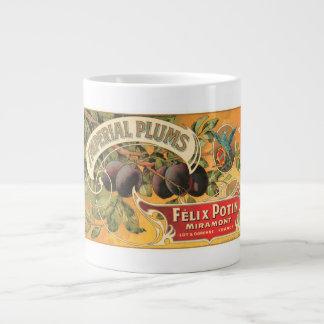 Imperial Plums Felix Potin Miramont VIntage Crate  Jumbo Mug