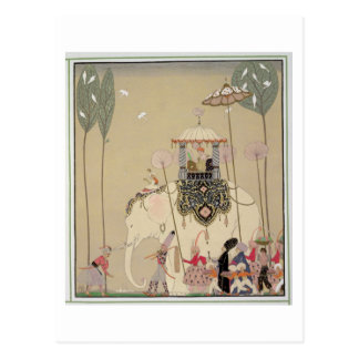 Imperial Procession (colour litho) Postcard