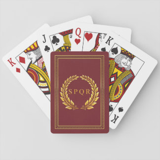 Imperial Roman SPQR and Laurel Playing Cards