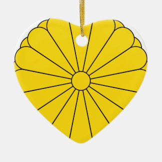 Imperial Seal of Japan - 菊花紋章 Ceramic Heart Decoration