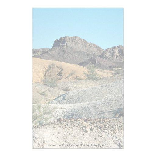 """Imperial Wildlife Refuge's """"Painted Desert"""", Arizo Stationery"""