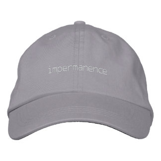 impermanence embroidered hat