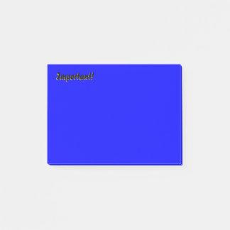 Important Deep Blue Post-it Notes