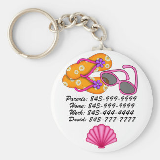 Important Phone Numbers Keychain by SRF