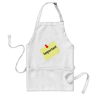 Important Post Note Standard Apron