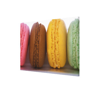 Imported gourmet French macarons (macaroons) Canvas Print