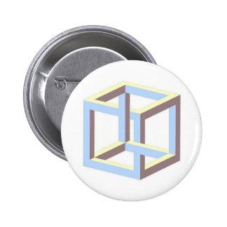 impossible_cube 6 cm round badge