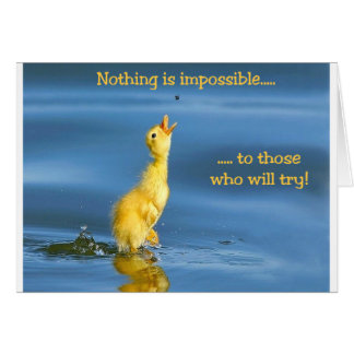 Impossible Duck Greeting Card