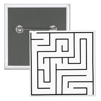 Impossible Maze Pinback Button
