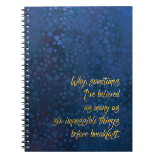 Impossible Notebook Blue & Gold