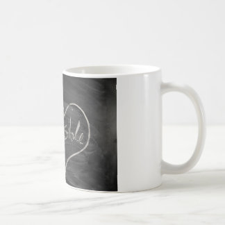 Impossible possible blackboard and chalk coffee mug