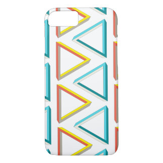 Impossible triangles geeky pattern iPhone 7 case