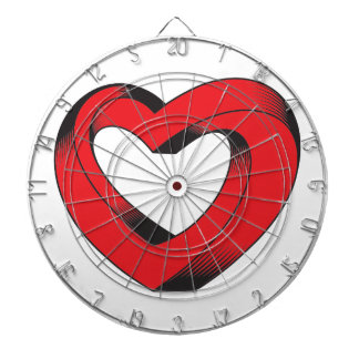 impossibly twisted heart dartboard