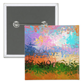 Impression Of Abstraction Abstract Design 15 Cm Square Badge