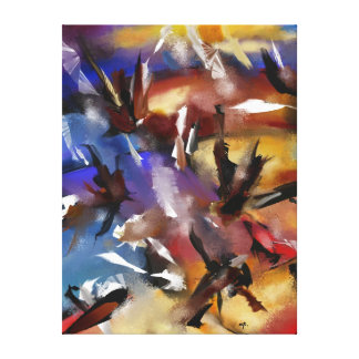 """Impression on fabric, """"Abstract 1.1705 """" Canvas Print"""