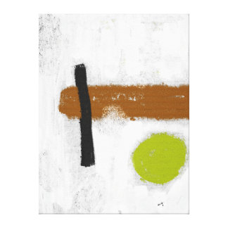 """Impression on fabric the Large model """"green Circle Canvas Print"""