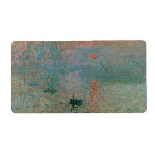 Impression, Soleil Levant by Claude Monet 1872
