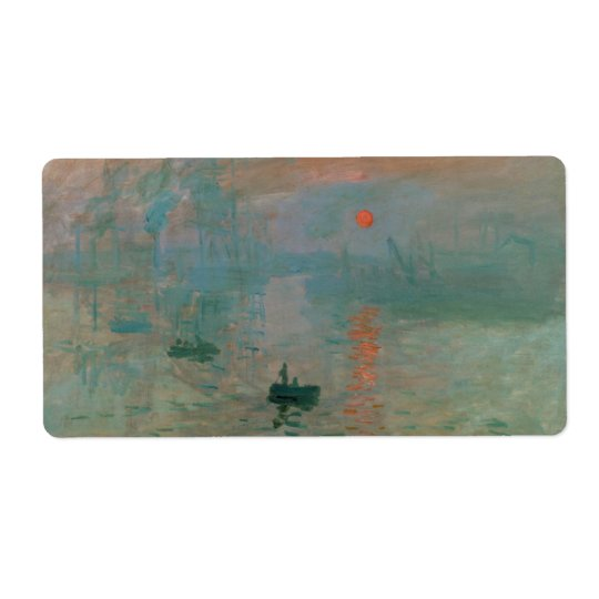 Impression, Soleil Levant by Claude Monet 1872 Shipping Label