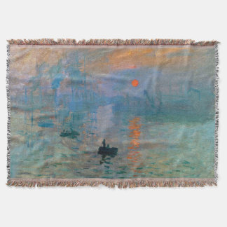 Impression Sunrise by Claude Monet Throw Blanket