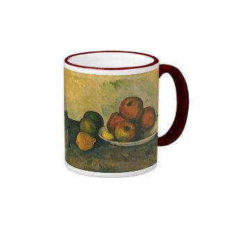 Impressionism Art, Still Life w Apples by Cezanne Ringer Mug