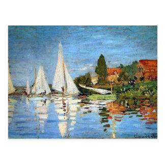 Impressionism Boats Fine Art Postcard