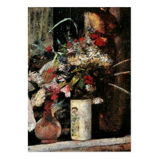 Impressionist art foral bouquet blooms by Ury Business Card Template
