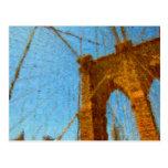 Impressionist Brooklyn Bridge Postcards