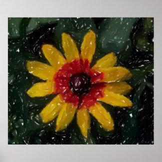 Impressionist Flower Poster