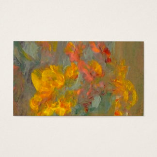 Impressionist Flowers Golds and Oranges