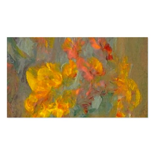Impressionist Flowers Golds and Oranges Business Cards