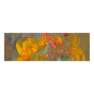 Impressionist Flowers Golds and Oranges Business Card Template