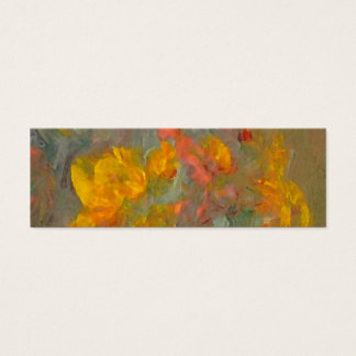 Impressionist Flowers Golds and Oranges Mini Business Card