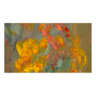 Impressionist Flowers Golds and Oranges Pack Of Standard Business Cards