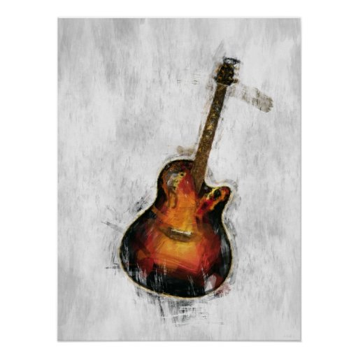 Impressionist Guitar Posters