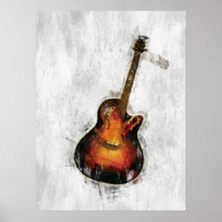 Impressionist Guitar Posters