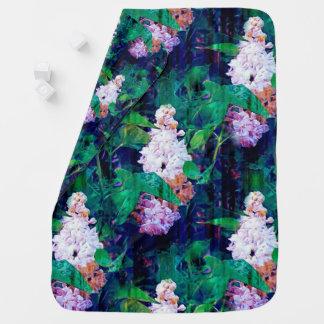 IMPRESSIONIST LILAC FLOWERS ORIGINAL indigo Baby Blanket