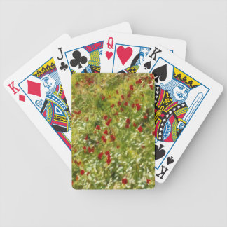 Impressionist Poppies Bicycle Playing Cards