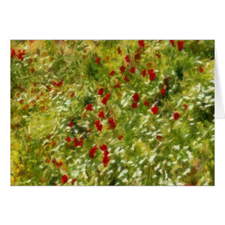 Impressionist Poppies Card