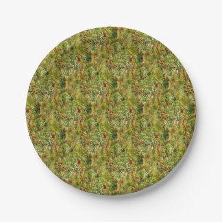 Impressionist Poppies Paper Plate