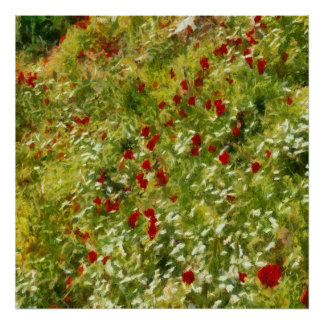 Impressionist Poppies Poster