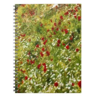 Impressionist Poppies Spiral Notebook