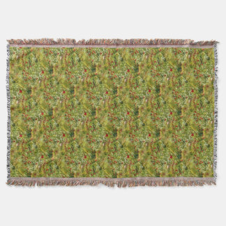 Impressionist Poppies Throw Blanket