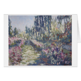 Impressionist Rose Garden Greeting Card