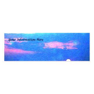 Impressionist Sea Sunset Bookmark Business Card